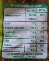 Fusilli integrali biologici - Nutrition facts