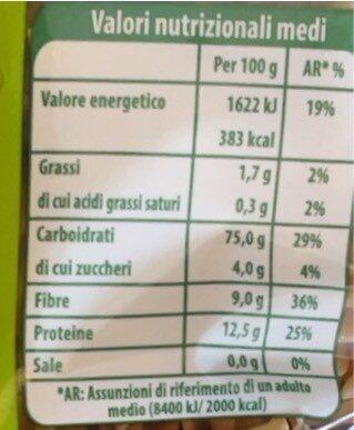 Fusilli - Nutrition facts - it