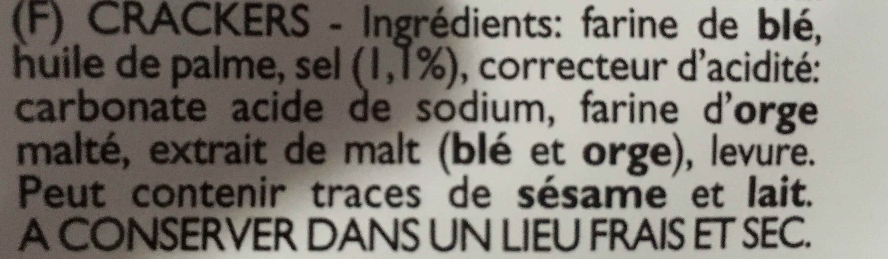 Cracker Non Sale - Ingrediënten