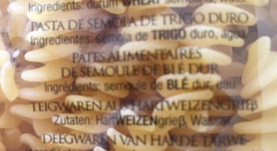 Fusilli No. 140 - Ingrediënten - fr