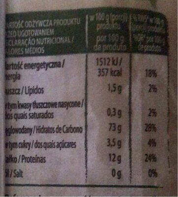 Spaguetti - Informations nutritionnelles - pl