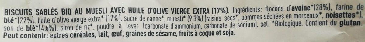 Frollini con muesli - Ingredientes - fr