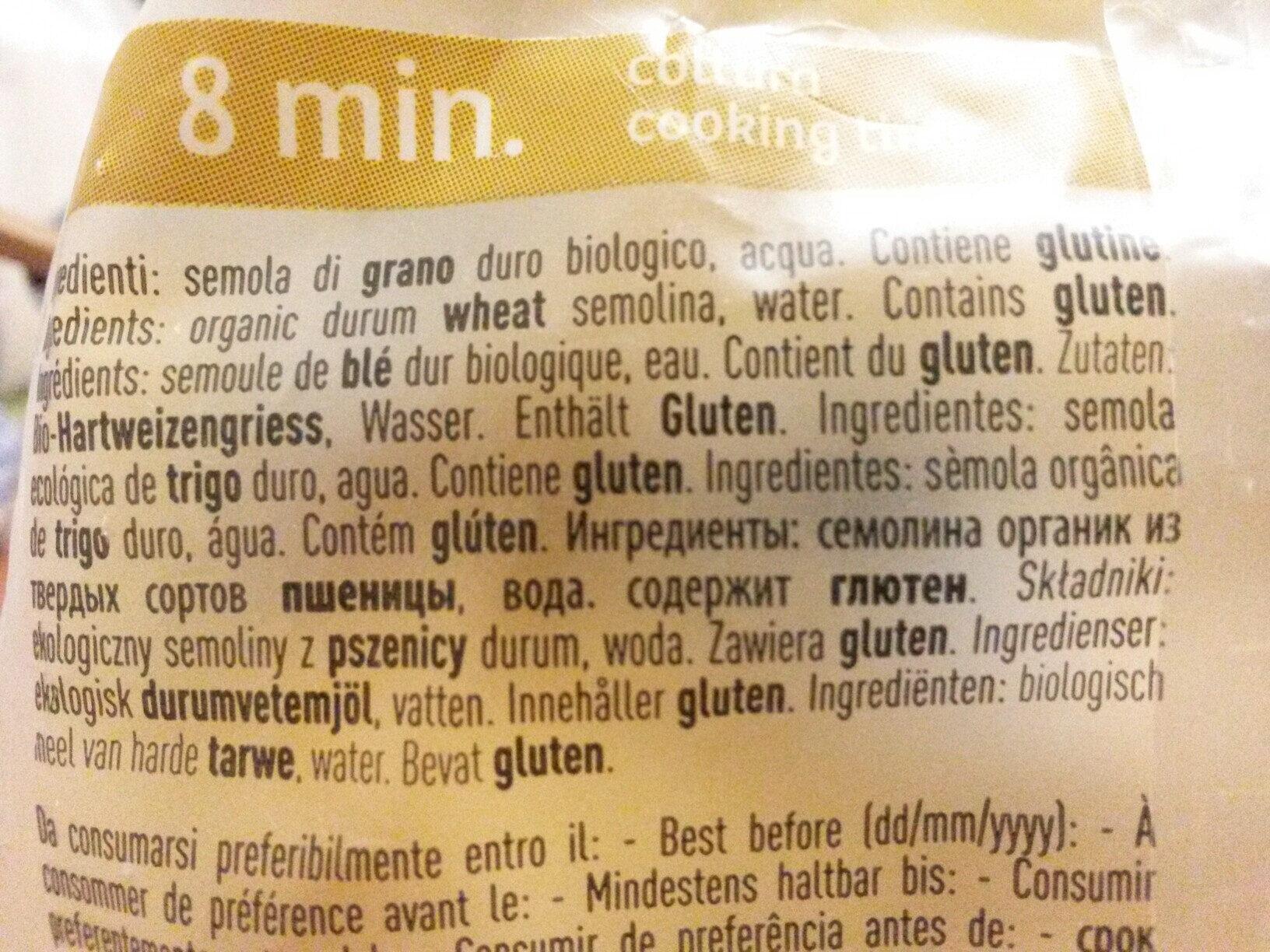 Tagliatelle grano duro - Ingrédients - fr