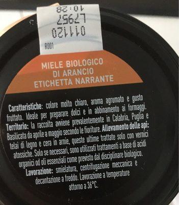 Miele di arancio - Ingrédients - fr