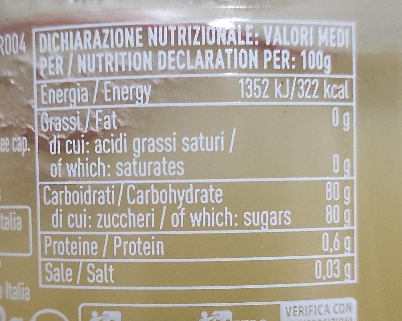 Miele di arancio - Informations nutritionnelles - it