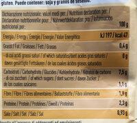 Zuppa Di Legumi E Farro - Valori nutrizionali - fr