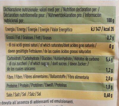 Minestrone du verdure - Informations nutritionnelles - de