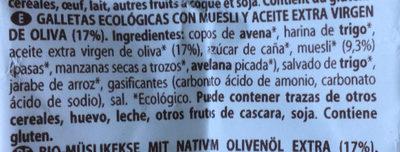 Muesli Biscuits - Ingredients
