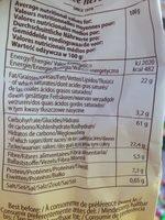 Muesli Biscuits - Informació nutricional