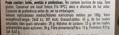 Cioccolato fondente con sale marino - Información nutricional - es