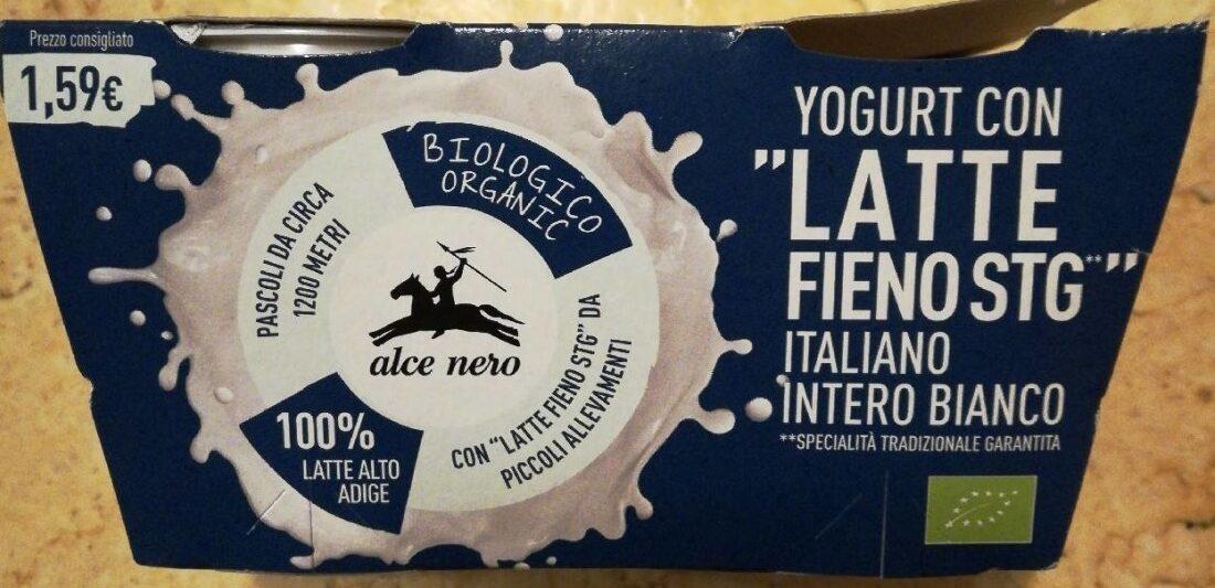 Yogurt con latte fieno stg italiano intero bianco - Prodotto - it