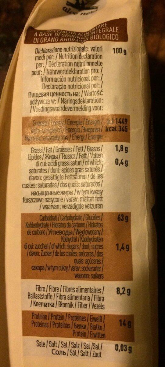Spaghetti integrali khorasan - Informations nutritionnelles - fr