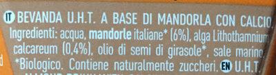 Latte di mandorla - Ingredients