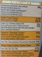 Latte di mandorla - Nutrition facts