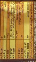Cremosi Cacao - Хранителна информация - bg