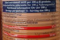 crauti già cotti - Informations nutritionnelles - it