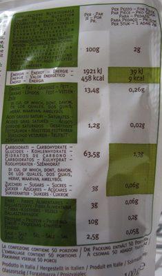 Valledoro - Informations nutritionnelles - fr