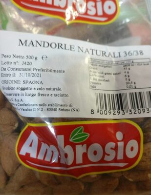 Mandorle naturali - Product - it