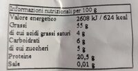 Mandorle naturali - Nutrition facts - it