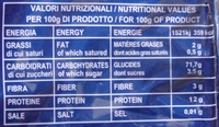 Macaroni 124 - Informations nutritionnelles - fr