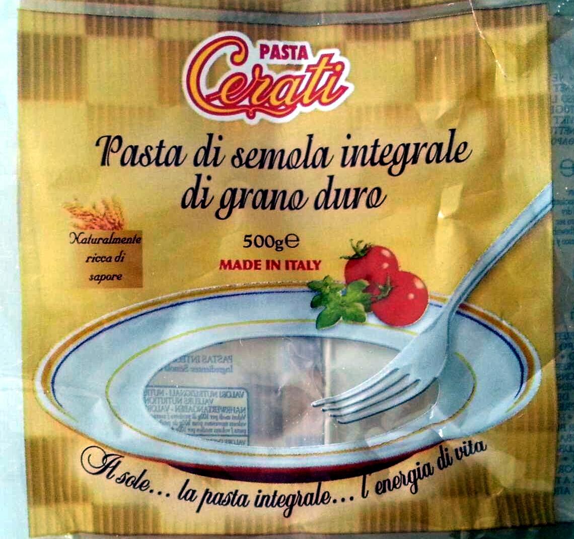 Pasta di semola integrale di grano duro cerati 500 g for Cuisine integrale