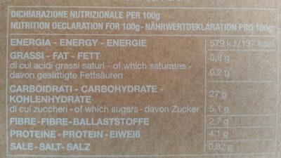 Gnocchi con curcuma e zenzero - Nutrition facts
