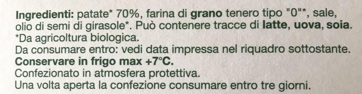 Gnocchi rigati - Ingredients