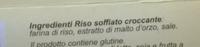 Riso Soffiato Croccante - Ingredients