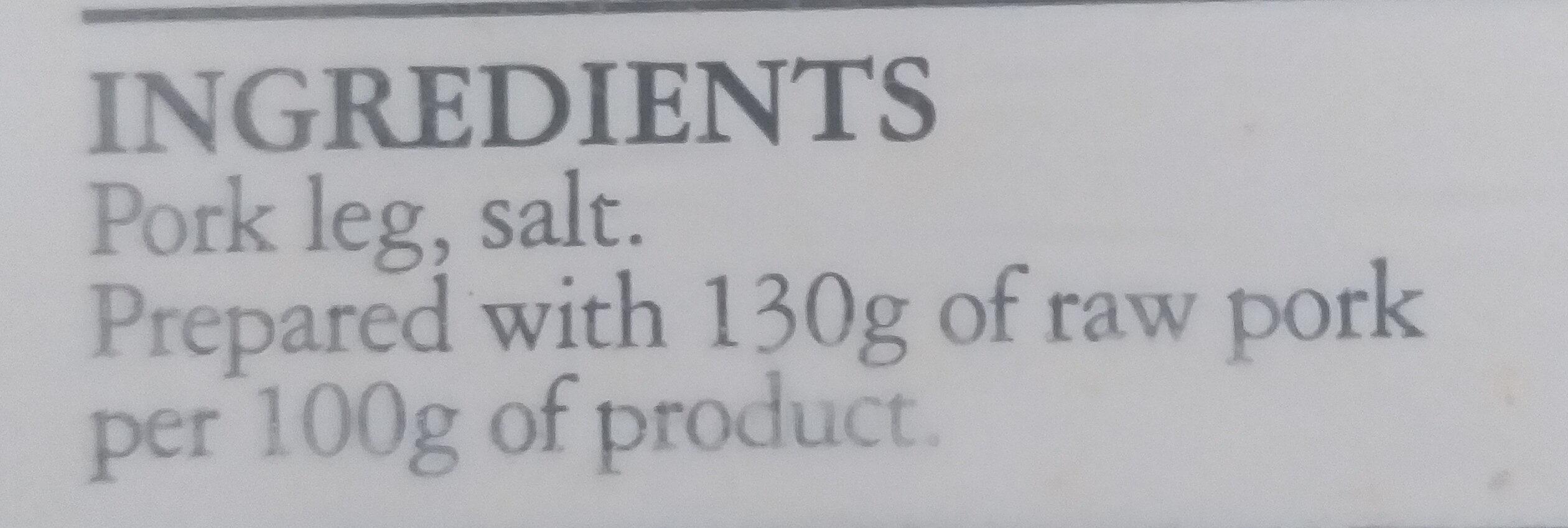 Prosciutto Crudo - Ingredients - en