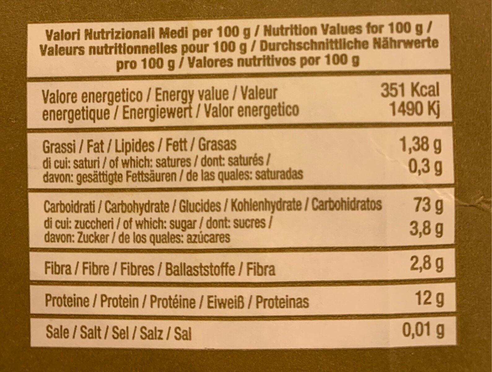 Triticum - Informations nutritionnelles - fr