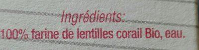 Lenticchie Rosse - Ingrediënten - fr