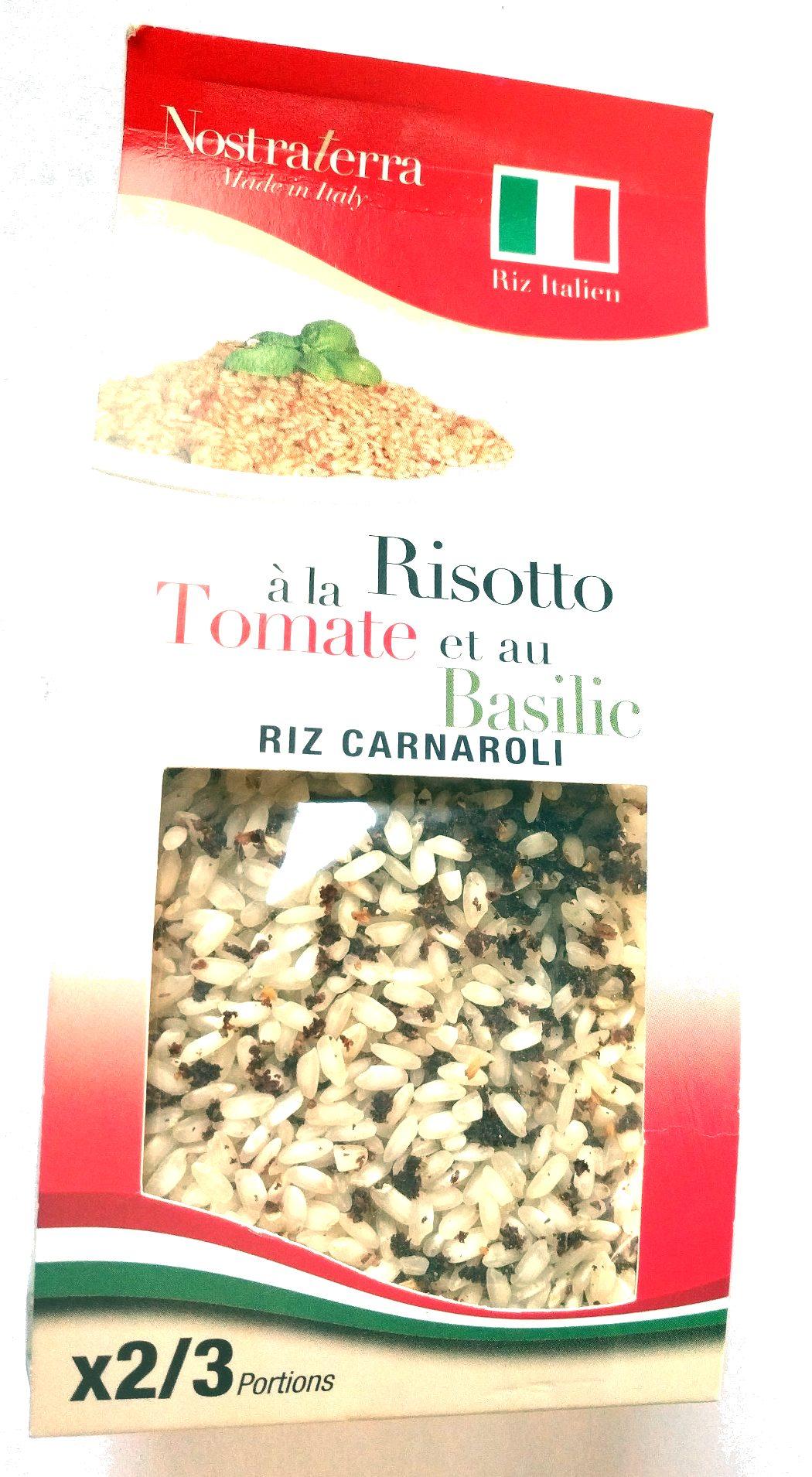 Risotto à la tomate et au basilic riz carnaroli - Produit - fr