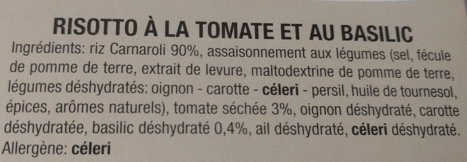 Risotto à la tomate et au basilic riz carnaroli - Ingrédients - fr
