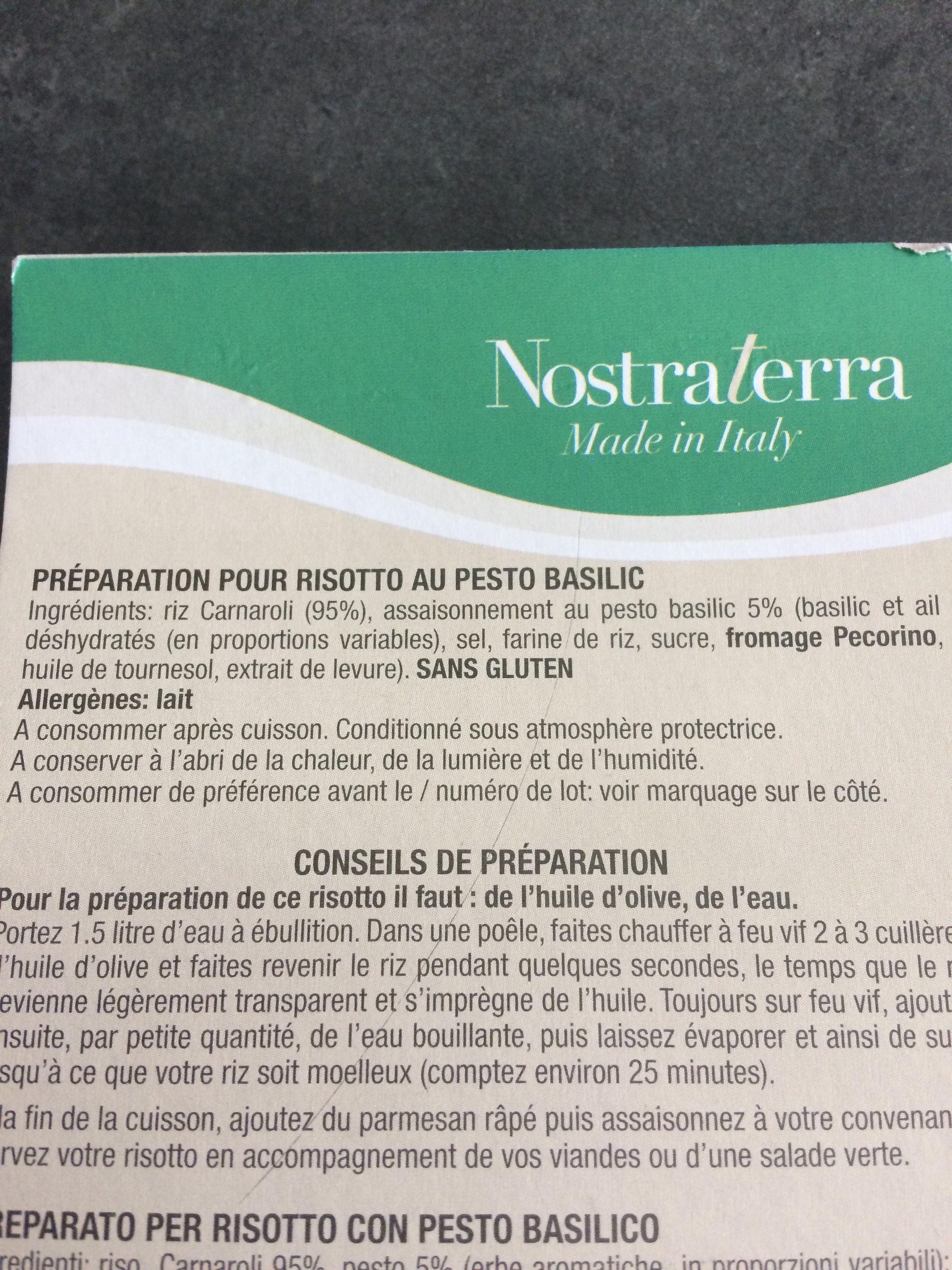 Riz Arborio Pour Risotto - Ingrediënten - fr