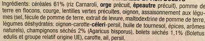 Soupe cereales et bolets - Ingrédients - fr