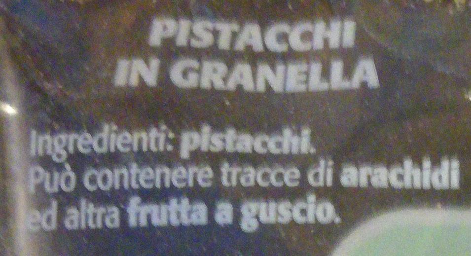 Pistacchi in granella - Ingredienti