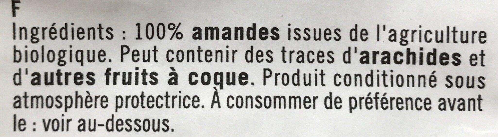 Amandes decortiquees - Ingrédients - fr
