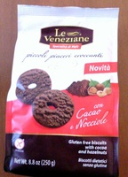 Biscotti Dietetici senza Glutine con Cacao e Nocciole - Prodotto