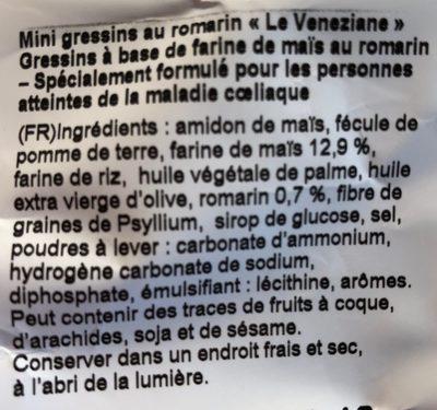 Mini grissini - Ingrédients - fr
