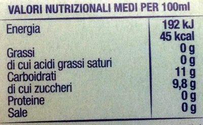 Nettare di mirtillo nero selvatico - Nutrition facts
