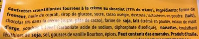 Sandwich Chocolate, Chocolate - Ingrédients - fr