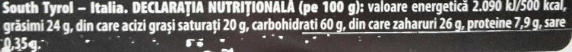 Sandwich dark chocolate - Informations nutritionnelles - ro