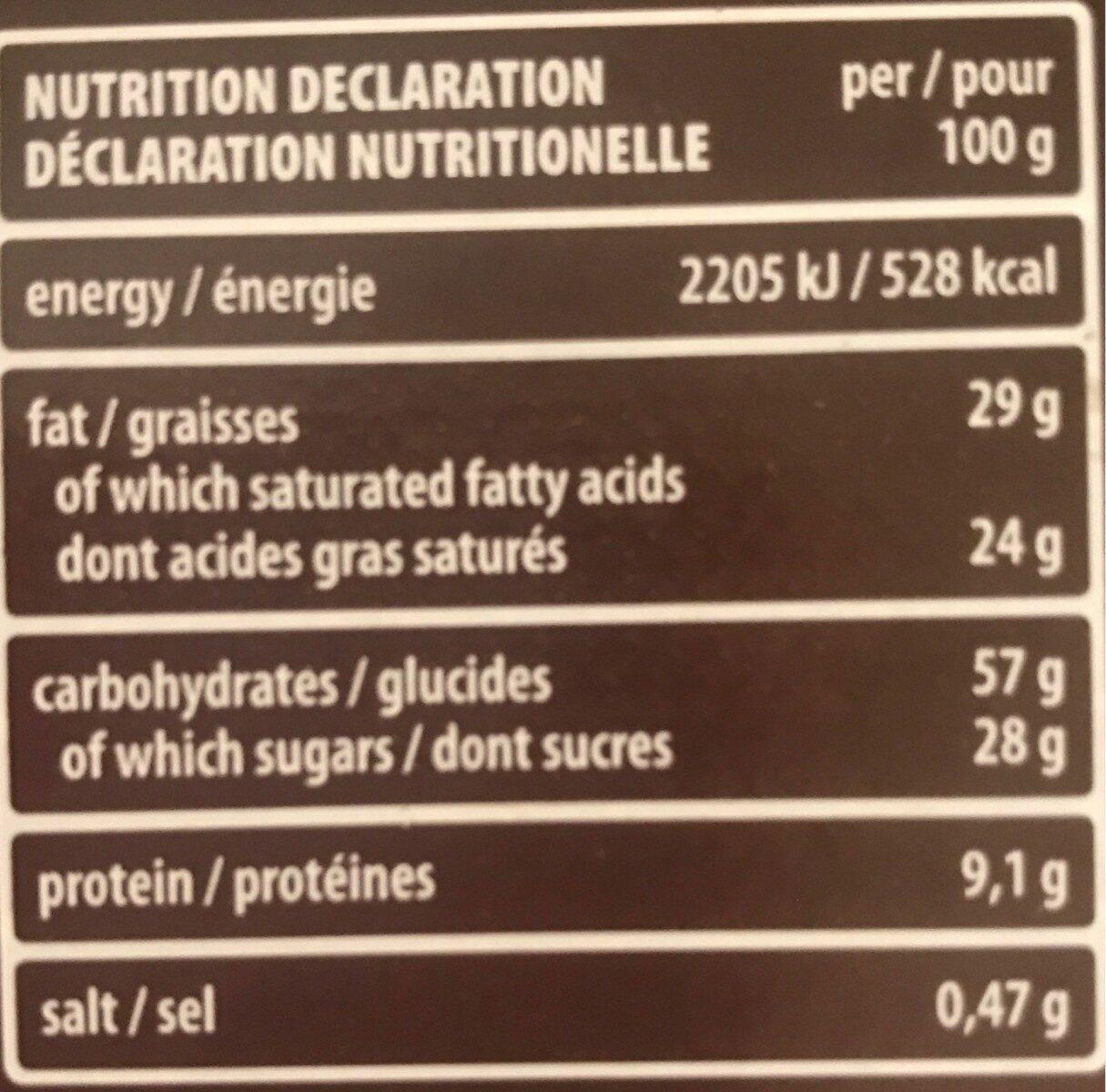 Cocoa & Milk Wafers 25 X 45G - Voedingswaarden - fr