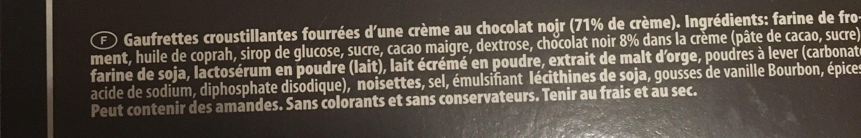 Gaufrettes Chocolat - Ingrédients - fr