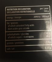 Gaufrettes Chocolat - Informations nutritionnelles - fr