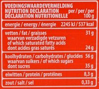Choco & milk cereals - Informations nutritionnelles
