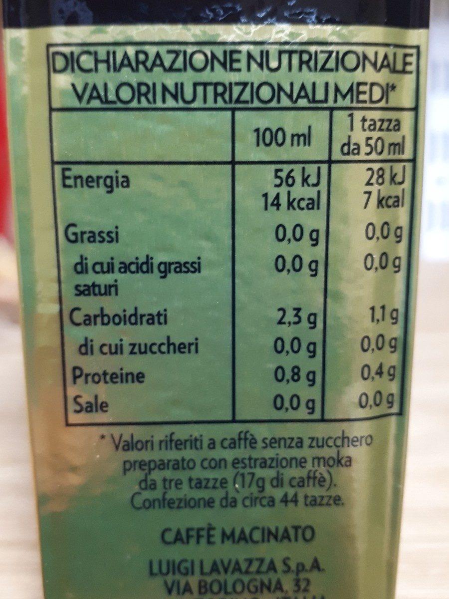 Lavazza Caffe' Oro - Ingrédients - fr