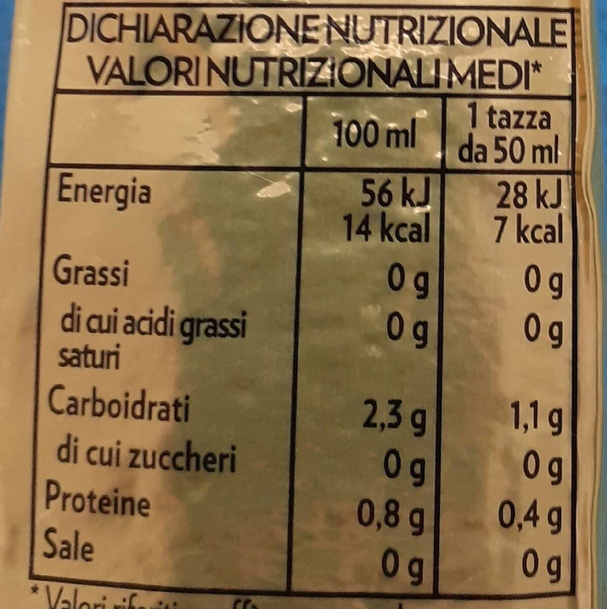 Lavazza Caffe' Oro - Informations nutritionnelles - fr