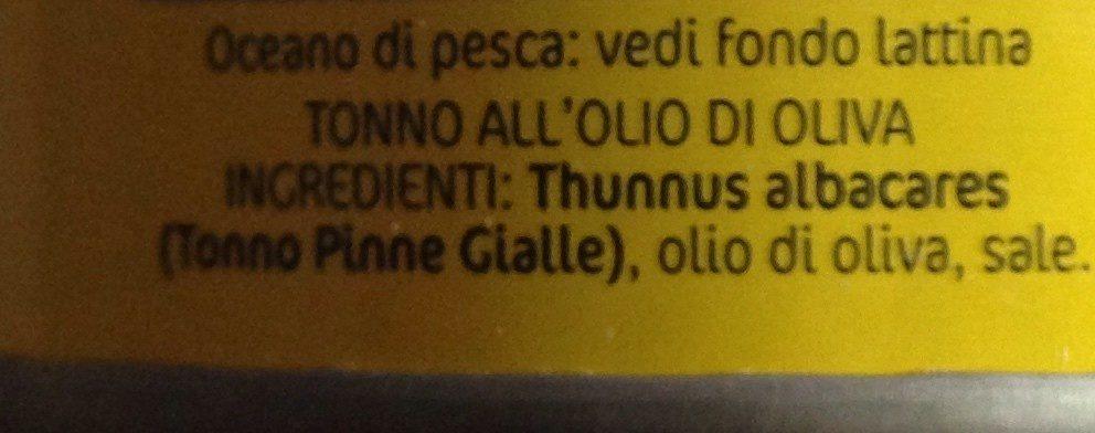 Tonno All' Olio Di Oliva - Ingrédients - fr