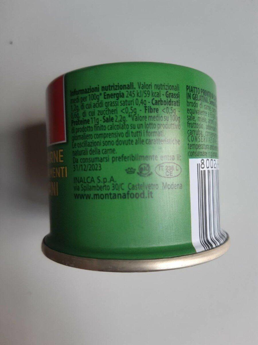 Carne in gelatina - Nutrition facts - fr